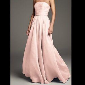 David's Bridal A-Line Organza Strapless Dress